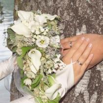 Brautstrauß creme Calla
