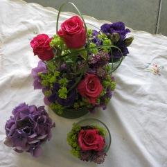 Gestecke pink-violett