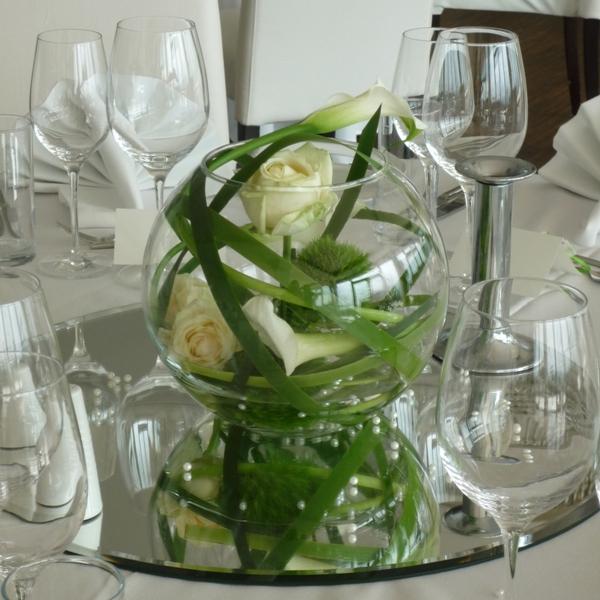 Tischdekoration 3 bunte blumen von zoubek for Tischdeko altrosa