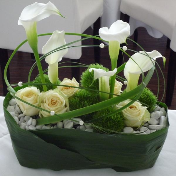 Tischdekoration 5 Bunte Blumen Von Zoubek