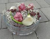 Vasenfüllung in rosa-violett Schattierungen