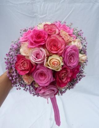 Brautstrauß in rosa-pink Schattierungen